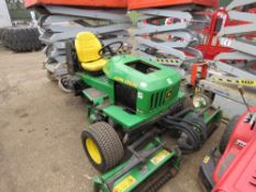 JOHN DEERE 2653A TRIPLE DIESEL ENGINED RIDE ON MOWER, 2305 REC HRS. WHEN TESTED WAS SEEN TO DRIVE, A