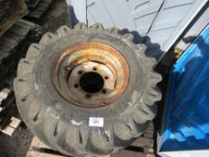 3 x 6 STUD WHEELS AND TYRES 11.5/80-15.3, FOR DUMPER OR SIMILAR.