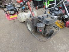 REAR TINED PETROL ROTORVATOR, CONDITION UNKNOWN.