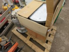 2 X DUSTBIN TYPE HEATERS, ONE BOXED.