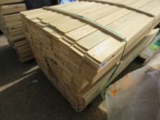 LARGE PACK OF FLAT MACHINED FINISH CLADDING TIMBER BOARDS 1.74M X 9.5CM APPROX, UNTREATED.
