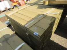 LARGE PACK OF FEATHER EDGE CLADDING TIMBER 1.2M X 10CM APPROX, PRESSURE TREATED.