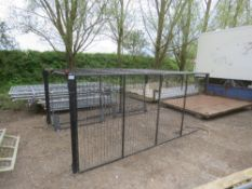 SET OF MESH CAGE SIDES WITH BARN REAR DOORS TO FIT FORD TRANSIT OR SIMILAR. 10FT X 7FT APPROX.
