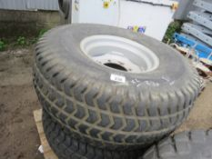 2 X WHEEL AND TYRES, GRASS TREAD PATTERN SIZE 475/65D20 FOR COMPACT TRACTOR.