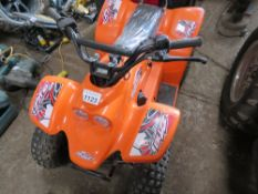 QUADZILLA BUZZ CHILD'S QUAD BIKE, SUPPLIED YEAR 2020, LITTLE SIGN OF USEAGE. WHEN TESTED WAS SEEN TO