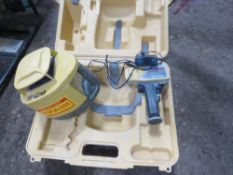 TOPCON RLH3C ROTARY LEVEL SET IN A CASE. UNTESTED, CONDITION UNKNOWN.