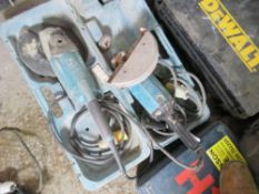 2 X 110VOLT ANGLE GRINDERS. UNTESTED, CONDITION UNKNOWN.