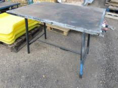 FOLDING PIPE FITTERS BENCH.