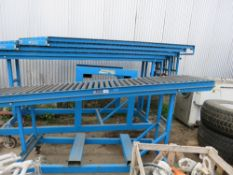 OCON 5 SECTION ROLLER CONVEYOR SYSTEM WITH A MAIN STAND. DIRECT FROM COMPANY LIQUIDATION.