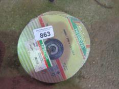 3 X BUNDLES OF HITACHI 230MM METAL GRINDING DISCS.
