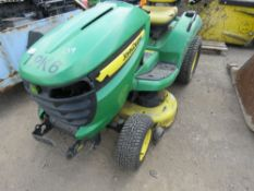 JOHN DEERE X540 PROFESSIONAL RIDE ON PETROL MOWER. PREVIOUS COUNCIL USEAGE. STRAIGHT FROM STORAGE,