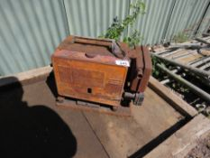 SMALL SIZED PETROL ENGINED WELDER, CONDITION UNKNOWN.