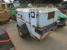 INGERSOLL RAND P130 COMPRESSOR, YEAR 1996. SN:291011E96236. WHEN TESTED WAS SEEN TO TURN OVER AND F