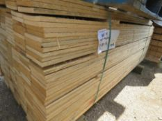 LARGE PACK OF UNTREATED NON MACHINED FINISH TIMBER CLADDING BAORDS, 1.75M X 10CM APPROX.