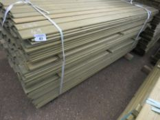 LARGE PACK OF SHIPLAP CLADDING TIMBER 1.83M X 9.5CM APPROX, PRESSURE TREATED.