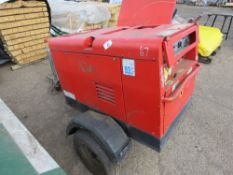 ARCGEN 300AVC TOWED WELDING PLANT. RED COLOURED, YEAR 2009 BUILD. SN:1302142. WHEN TESTED WAS SEEN T