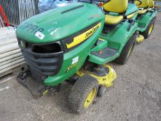 JOHN DEERE 540 RIDE ON PROFESSIONAL MOWER, PREVIOUS COUNCIL USEAGE. NO VAT ON HAMMER PRICE.