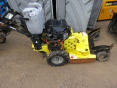 GD PRODUCTS PREMIER HYDRO PEDSTRIAN MOWER. WHEN TESTED WAS SEEN TO RUN AND DRIVE AND BLADES TURNED