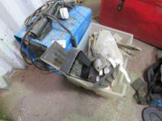 CLARKE 240VOLT 145TN ARC WELDER PLUS A BOX OF CLAMPS ETC.