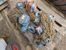 6 x chain hoists