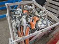 STILLAGE OF STIHL SAW PARTS AND SPARES.