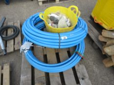 PALLET OF WATER PIPES AND FITTINGS.