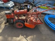 HOWARD GEM PETROL ENGINED ROTORVATOR, CONDITION UNKNOWN.