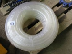 30METRE LENGTH ROLL OF CLEAR WATER PIPE.
