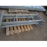 7 X GALVANISED STEEL SCAFFOLD TOWER FRAMES.