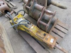 2 X BUCKETS AND OKTEC BREAKER TO SUIT EXCAVATOR ON 40MM PINS. DIRECT EX COMPANY DUE TO REORGANISATIO