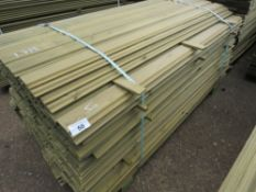 LARGE PACK OF SHIPLAP CLADDING TIMBER 1.73M X 9.5CM APPROX, PRESSURE TREATED.