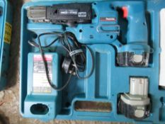MAKITA BATTERY POWERED SCREW GUN. UNTESTED, CONDITION UNKNOWN.