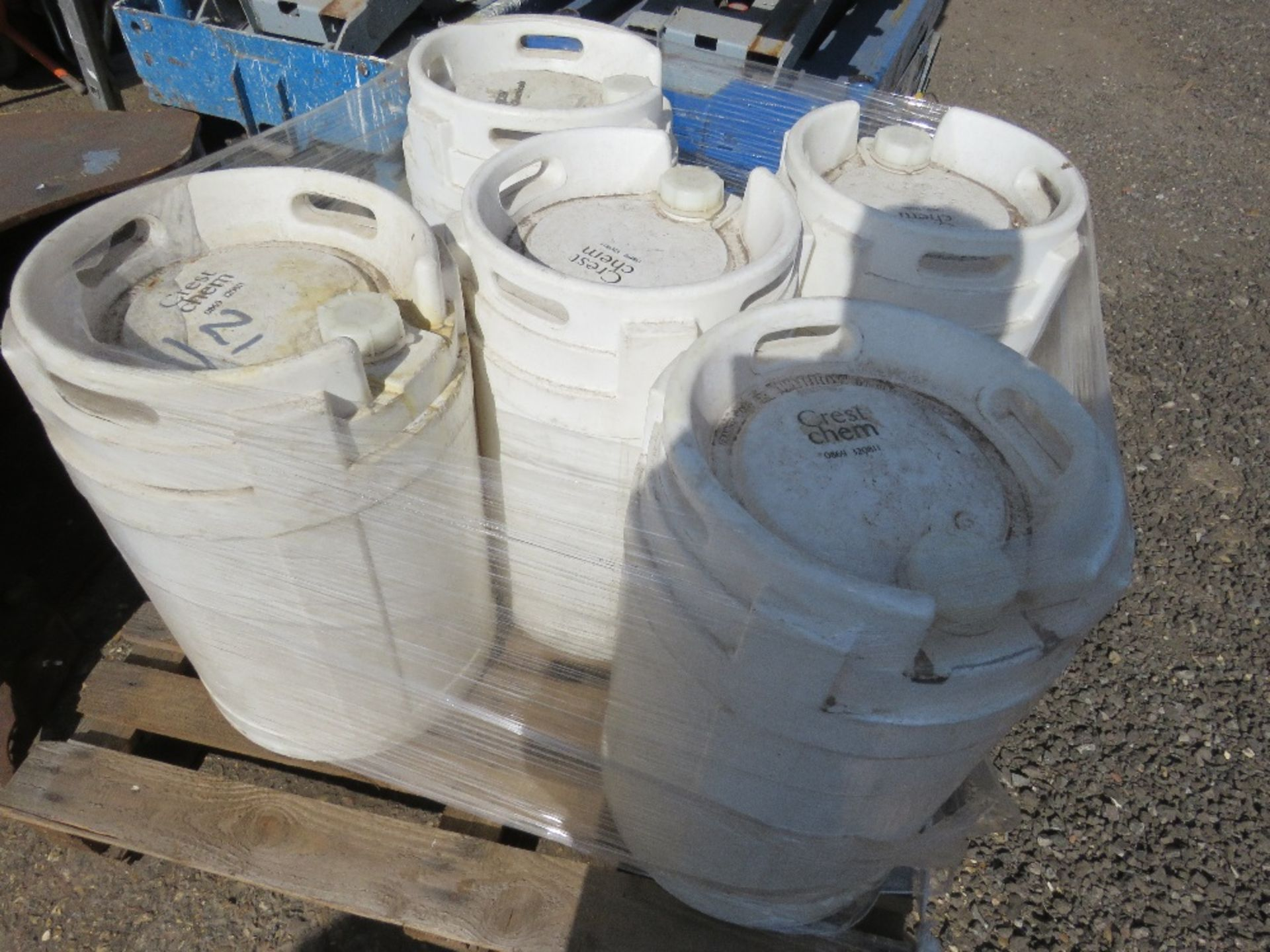 5 X 40LITRE HEAVY DUTY CARBOYS CONTAINERS.