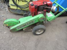 PROMARK HEAVY DUTY PETROL ENGINED STUMP GRINDER. WHEN TESTED WAS SEEN TO RUN AND BLADE TURNED.