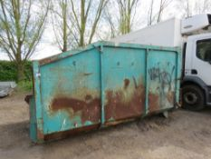 HOOK LOADER CONTAINER, PREVIOUSLY USED ON 7.5TONNE LORRY. REQUIRES SOME REPAIRS.