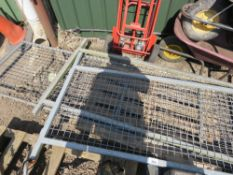 3 X IFOR WILLIAMS MESH CAGE SIDES.