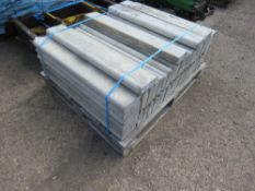 """PALLET CONTAINING APPROXIMATELY 50 ROUND TOPPED EDGING KERBS 36"""" X 6"""" X 2"""" APPROX"""