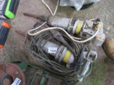 2 X HEAVY DUTY KANGO 240 VOLT BREAKER DRILLS.