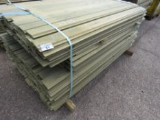 LARGE PACK OF SHIPLAP CLADDING TIMBER, SOME VARIATION IN LENGTHS: 1.5-1.73M X 9.5CM APPROX, PRESSURE