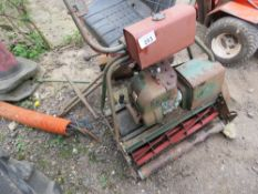 CYLINDER MOWER WITH ROLLER SEAT.