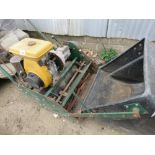 ALLET LARGE SIZED CYLINDER MOWER WITH A BOX.