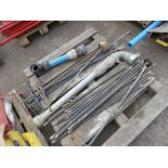 PALLET CONTAINING STAND PIPE, STAND PIPE SPANNERS, DRAIN RODS, ETC.