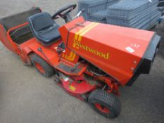 WESTWOOD RODE ON MOWER WITH COLLECTOR. BARN STORED, UNUSED, FOR LAST 8 YEARS.