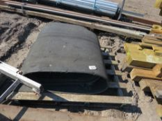 ROLL OF CONVEYOR BELTING, IDEAL FOR LOADING RAMPS.