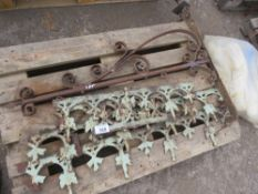PALLET OF ORNATE BRACKETS AND FINIALS.