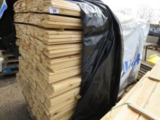 EXTRA LARGE PACK OF FLAT MACHINED FINISH CLADDING TIMBER BOARDS 1.75M X 9.5CM APPROX, UNTREATED.
