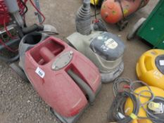 FLOOR POLISHER PLUS WASHER UNIT, CONDITION UNKNOWN.