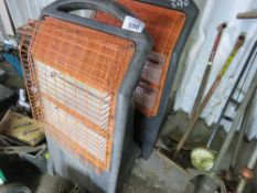 2 X RADIANT HEATERS, 110VOLT. UNTESTED, CONDITION UNKNOWN.