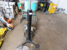 HEAVY DUTY TRANSMISSION JACK. WHEN TESTED WAS SEEN TO LIFT AND LOWER.