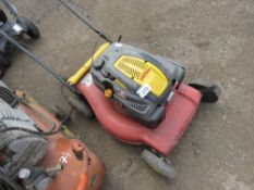 WOLF PETROL MOWER. CONDITION UNKNOWN.